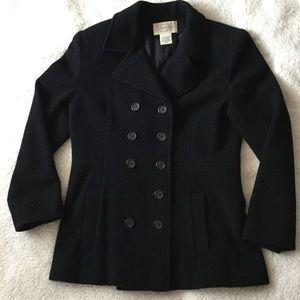 St. John's Bay Black Wool Pea Coat